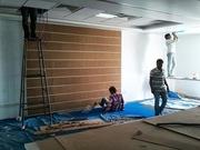 Acoustic wall panels,  Fabric wall panels with gripper system
