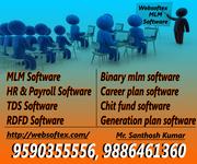 MLM Software,  HR & Payroll Software,  TDS Software,  RD FD Software