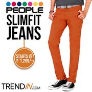 People Slim Fit Jeans