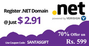 DOTNET DOMAIN AT Rs.180($2.91).