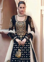 New Black Floor Touch Embroidered Designer Anarkali Suit just 1999/-