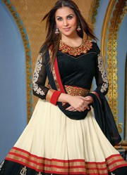 Lara Dutta Georgette Semi Stitched Anarkali Suit just only on Rs.1999