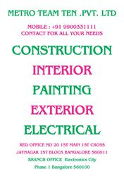 For duplex triplex construction and designing in Bangalore