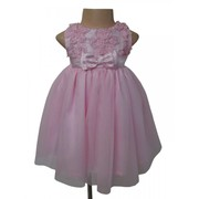 Pink Ceremonial Dress with 3D Floral Design for your little princess!!