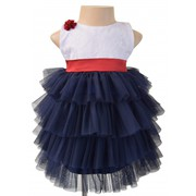 Navy Tiered Ruffle Dress for Your Little Angel
