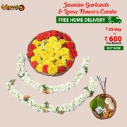 Jasmine Garlands With Loose Flowers Combo @ Rs 25