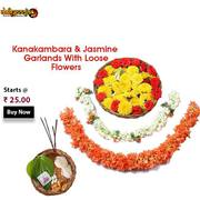 Buy Pooja Garlands Flower Combo Online From Daily pooja @ Rs 25/- Only