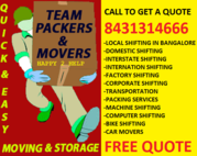 TEAM PACKERS AND MOVERS BANGALORE