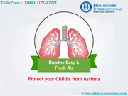 Get rid from Asthma with Homeopathy at Homeocare International
