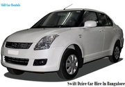 Swift Dzire cars on rentals or hire in Bangalore - 09036657799