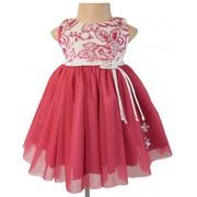 Ivory And Mauve Velvet Celebration Dress For Your Little Girls