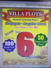VIP Kings Town Villa plots from 4.5 lakh,  6.5 lakh & 13.5 lakh only