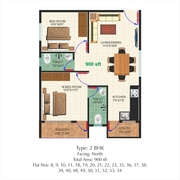 2BHK FLAT FOR SALE WITH ALL AMENITIES - E f