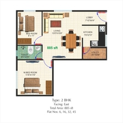 CLEAR TITLE PAPERS - 2BHK FLAT FOR SALE - NO COMMON WALLS u