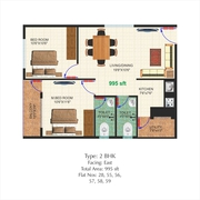 CLEAR TITLE PAPERS - 2BHK FLAT FOR SALE - NO C