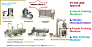 Purchase All type of Snacks Making Machine,  Pouch Packing Machine,  Mug