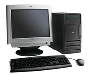 Desktop available dual core with LCD monitor