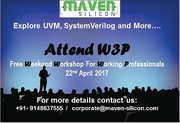 Attend W3P:Weekend Workshop for Working Professionals & learn UVM,  Sys