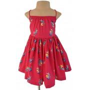 Parrot Print Fuchsia Dress Made By Faye