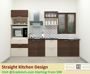 Straight Kitchen Design - Starting From 40k