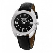 Black Synthentic Leather Wrist watch with 28% Off.