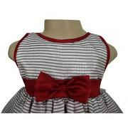 Black & White Stripes Dress By Faye
