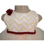 Embroidery Chevron Pattern Dress