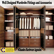 well designed wardrobe fittings and accessories in bangalore