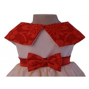 Red & Cream Collared Dress At Faye Store
