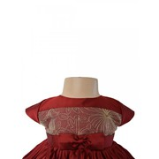 Maroon & Gold Tiered Dress At Faye Store