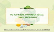 Do you know how much does a translation cost? - Verbolabs