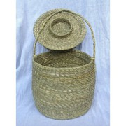 Handcrafted Waste Basket Made Out Of Grass