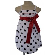Black and White Polka dots Girls Party Dress