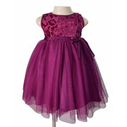 Plum velvet party dress in Children wear