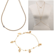 Fashion body chain and foot chain