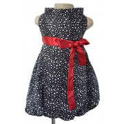 Faye Girls Designer Dresses with Polka Dots