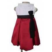 Halter Style Ivory Maroon Party Wear Dresses for Kids