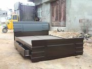 king size storege double bed  free deliveryy all bangalore 9844 501715