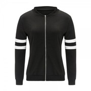 Full Sleeves Black Fleece Jacket with 45% Off