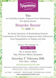 vijayalakshmi silks & Sarees Bespoke Bazaar 2018,  Rain Tree