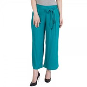 Cotton Pleated Palazzo Pants With Elastic Waist with 45% Off