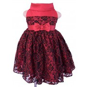kids dresses online in Black and Red Lace Ceremonial style