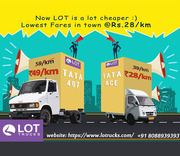 Mini Trucks for Rent Bangalore,  Chennai & Hyderabad - Lotrucks.com