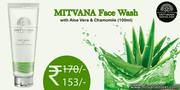 Varieties of facewash online from mitvana stores