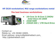 HP Z620 Workstations,  HP Mid- range workstations rental