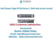 Dell PowerEdge R730  with Xeon E5-2640V4 2.4 GHz and 32 GB RAM on rent