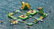 Space for floating water park in manipal.