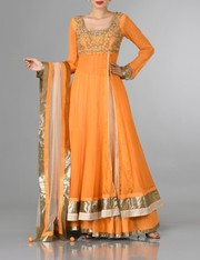 Orange Indo-Western Party Wear Dress for Women - Online Shopping