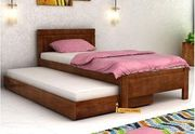 Extensive collection of pull-out trundle beds online at Wooden Street