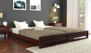 Look at the elegant queen bed designs online at Wooden Street